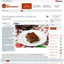 Tarta de galletas y chocolate, la de todos los cumpleaños. - Recetasderechupete.com