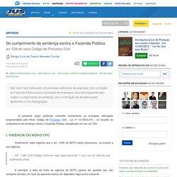 Do cumprimento de sentença contra a Fazenda Pública no novo CPC - Jus Navigandi