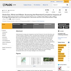 PLOS 19/02/14 Shale Gas, Wind and Water: Assessing the Potential Cumulative Impacts of Energy Development on Ecosystem Services
