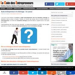 Cumuler le statut auto-entrepreneur et le chômage