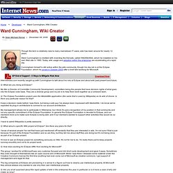 Ward Cunningham, Wiki Creator, Eclipse Dir. of Committer Communi