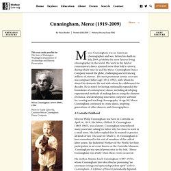 Cunningham, Merce (1919-2009) - HistoryLink.org