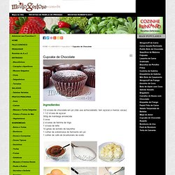 Cupcake de Chocolate - MuitoGostoso