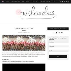 Cupcake stitch - free crochet tutorial