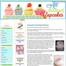 Cupcake Frosting Recipes, Cupcake icing recipes