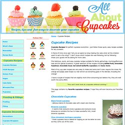 Cupcake Recipes - Easy Cupcake Recipes to make perfect cupcakes everytime