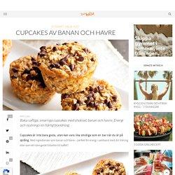 Cupcakes av banan och havre - Sporthälsa