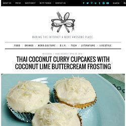 Thai Coconut Curry Cupcakes with Coconut Lime Buttercream Frosting