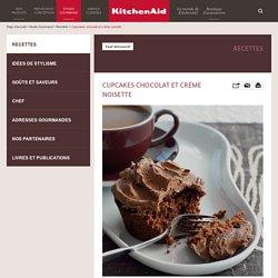 Cupcakes chocolat et crème noisette