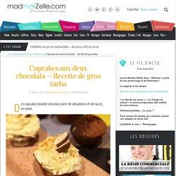 Cupcakes aux deux chocolats—Recette de gros tarba
