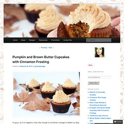 Pumpkin and Brown Butter Cupcakes with Cinnamon Buttercream