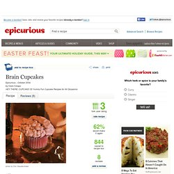 Brain Cupcakes Recipe at Epicurious