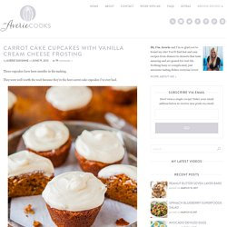 Carrot Cake Cupcakes with Vanilla Cream Cheese Frosting - Averie Cooks