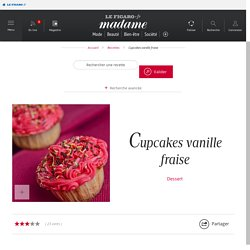 Cupcakes vanille fraise