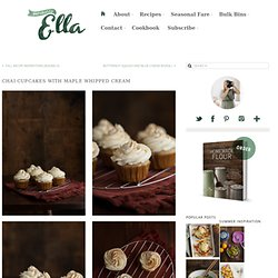 Chai Cupcakes with Maple Whipped Cream - Naturally Ella