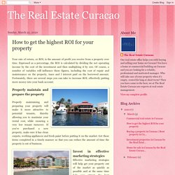 The Real Estate Curacao: How to get the highest ROI for your property