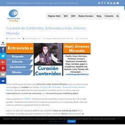 Curación de Contenidos Entrevista a Iñaki Jiménez Miranda