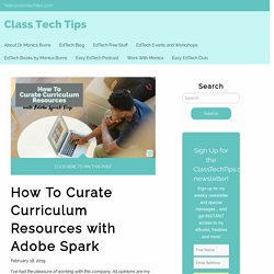 How To Curate Curriculum Resources with Adobe Spark