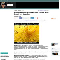 Curated Content Delivery Formats: Beyond News Portals and Magazines
