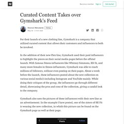 Curated Content Takes over Gymshark's Feed