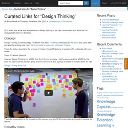 """Curated Links for """"Design Thinking"""""""