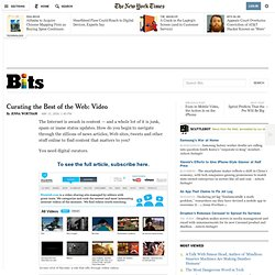 Curating the Best of the Web: Video