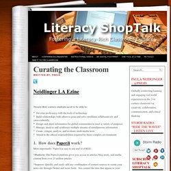 Paper.li for Curating the Classroom - Literacy ShopTalk