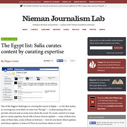 The Egypt list: Sulia curates content by curating expertise