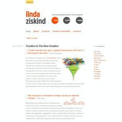 Curation Is The New Creation - Social Media Notes
