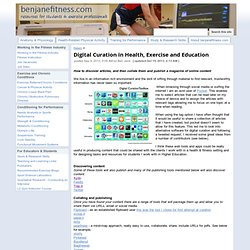 Digital Curation in Health, Exercise and Education - Ben Jane Fitness