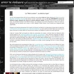 """La """"Web curation"""" : au-delà du hype!"""