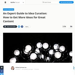 Idea Curation: How to Get More Ideas for Great Content