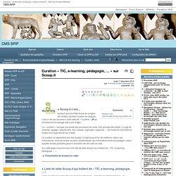 Curation « TIC, e-learning, pédagogie, ... » sur Scoop.it