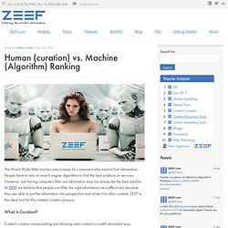 Human (curation) vs. Machine (Algorithm) Ranking | ZEEF