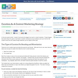 Curation As A Content Marketing Strategy