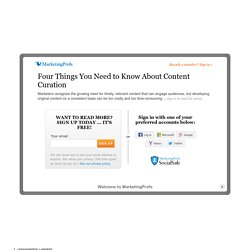 Four Things You Need to Know About Content Curation