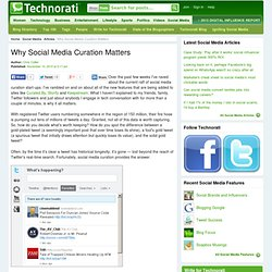 Why Social Media Curation Matters - Technorati Blogging