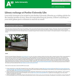 Library exchange at Purdue University Libs