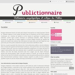 Curation – Publictionnaire