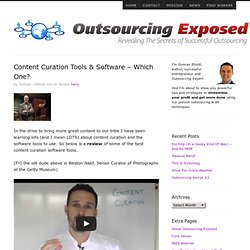 Content Curation Tools & Software - Which One? | Outsourcing Exposed