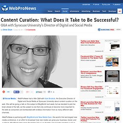 Content Curation: What Does it Take to Be Successful?