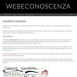 GigiCogo: Web e Conoscenza: Content curation