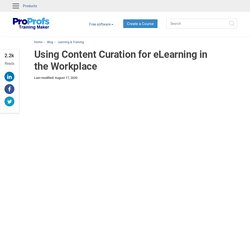 Content Curation in Workplace Learning