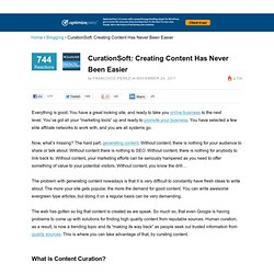 CurationSoft Review: Creating Content Has Never Been Easier