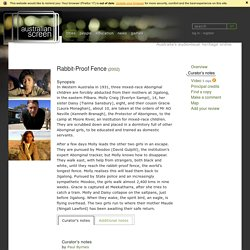 Curator's notes Rabbit-Proof Fence (2002) on ASO