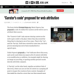 'Curator's code' proposed for web attribution