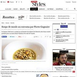 Soupe de moule au curcuma par Pierre Gagnaire