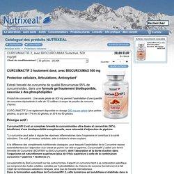 .CurcumActif 2 avec BIOCURCUMAX suractivé hautement dosé : 500 mg par gélule - Nutrixeal -