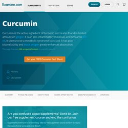 Curcumin - Scientific Review on Usage, Dosage, Side Effects