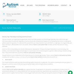 Find How to Cure Autism Naturally